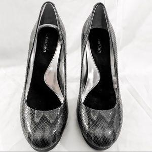 Calvin Klein Shoes - Calvin Klein Sydney Snakeskin Heels